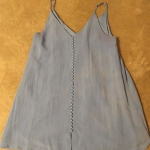 Beautiful Blue Top with Button Detail